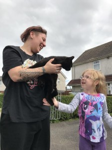 'Unrecognisable' young cat reunited with owners after two months missing