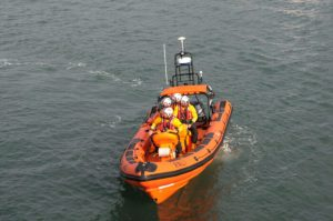 Beaumaris lifeboat tasked to a boat with reported engine failure near Caernarfon