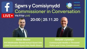Police and Crime Commissioner to broadcast live conversation with Health Board Chief Executive -Steve Moore