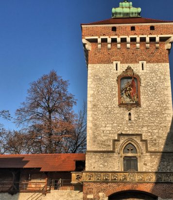photo of medieval tower in krakow