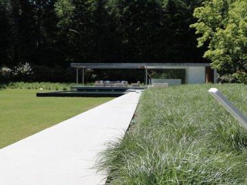Grote Tuin In Bosrijk Gebied