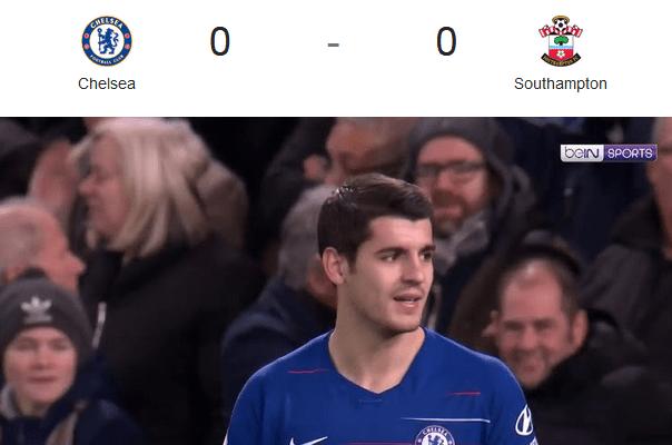Liga Inggris 2018/2019 Chelsea Vs Southampton 0 – 0