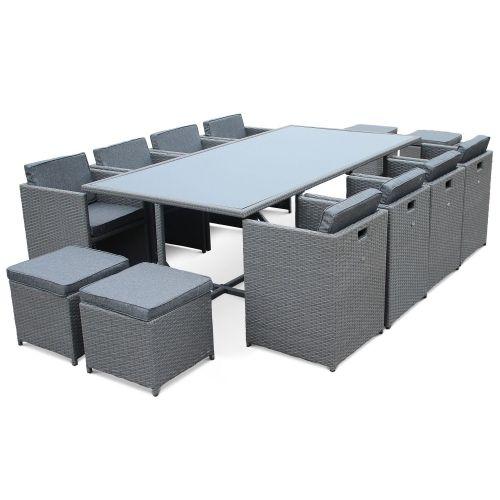 table de jardin en resine 12 places vasto 12