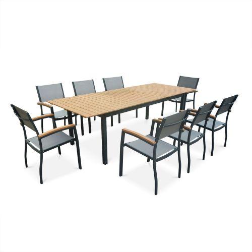 table de jardin extensible 8 chaises sevilla