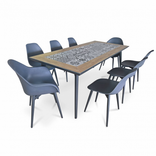 table de jardin ceramique 8 places seram