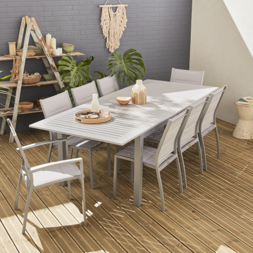 Scopri la collezione di tavoli da giardino disponibili su bricobravo e. Set Da Pranzo Da Giardino Alluminio Allungabile 175x245cm 8 Sedute