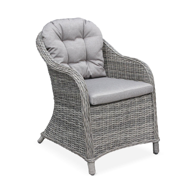 lot de 2 fauteuils de jardin en resine ronde lecco