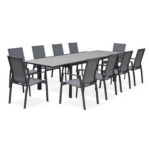 table de jardin extensible 8 chaises washington