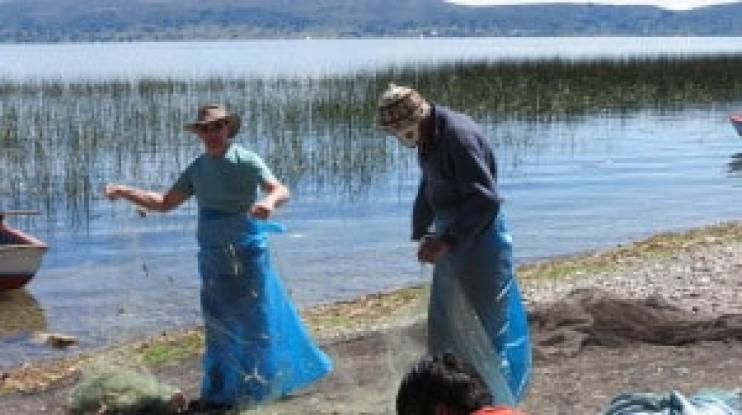 fishing at a home stay in puno
