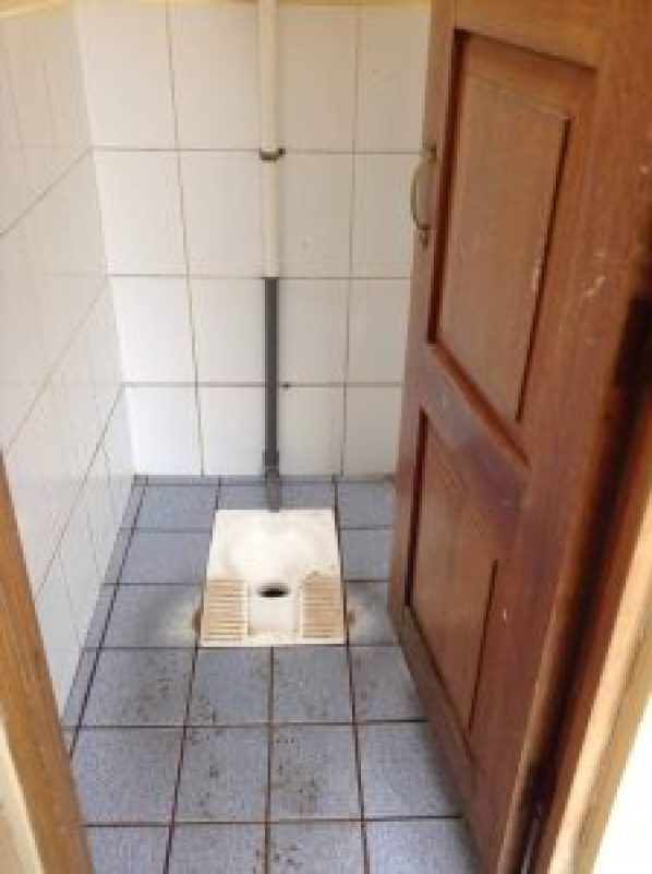 squat toilet on the inca trail