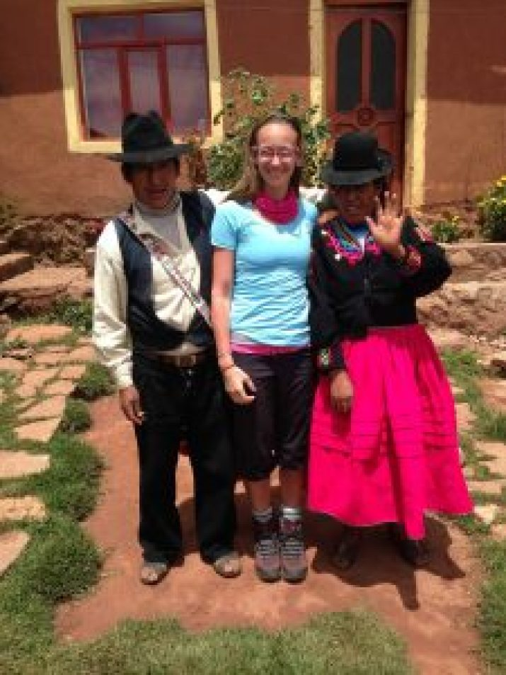 my home stay family in puno peru