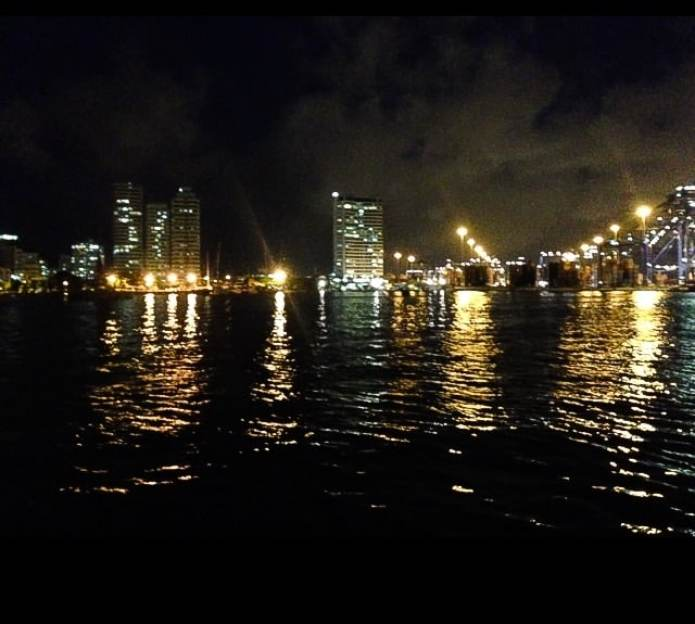 Cartagena Marina at night