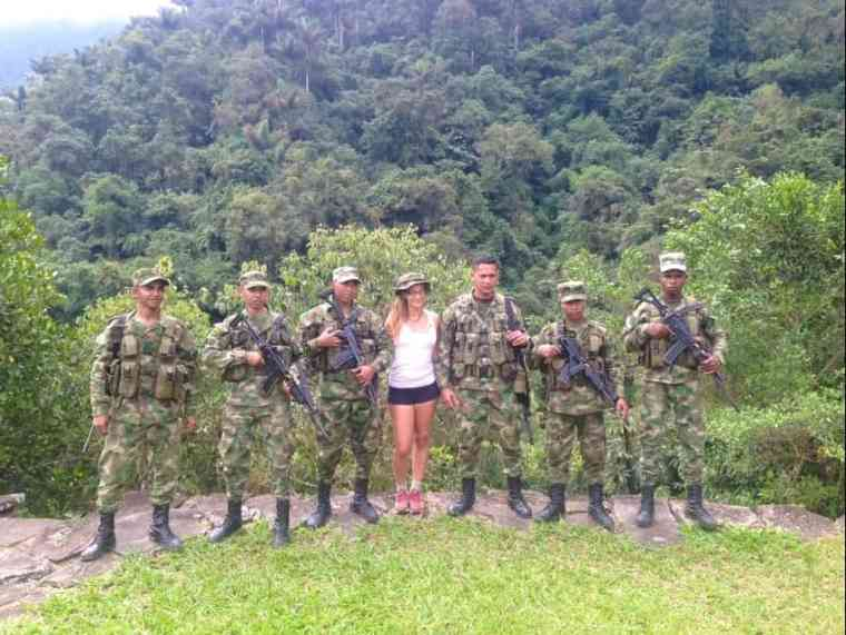 military base on the lost city trek colombia