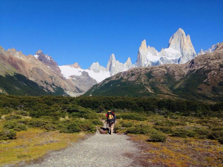 trekking to mount fitz roy