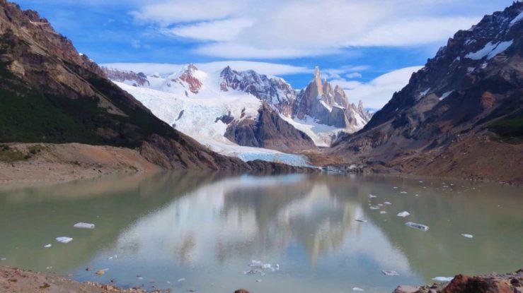 grande glacier in los glaciers national park el chalten argentinav