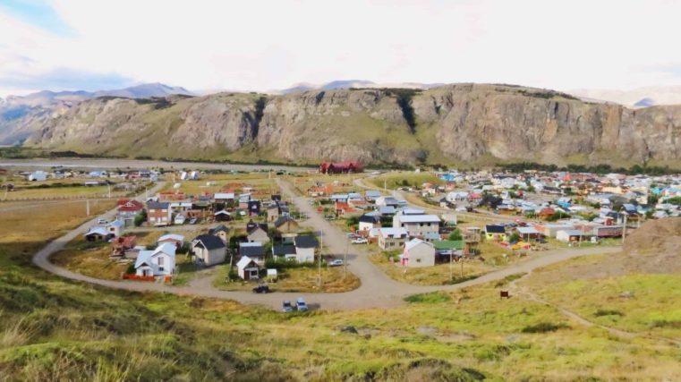 view of the city of el chalten