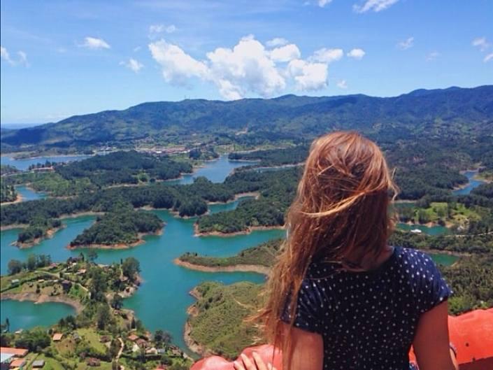view of Guatape
