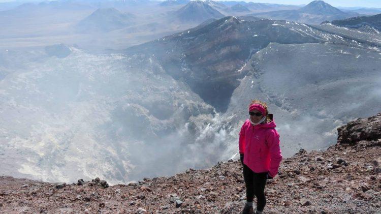 Lascar volcano crater
