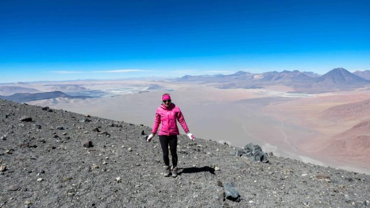 Enjoying the high summit of Lascar Volcano