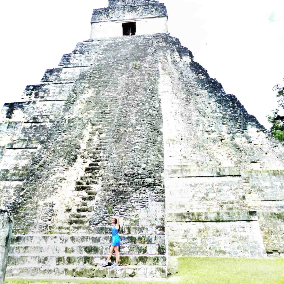 walking across the ruins of Tikal