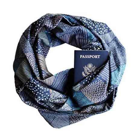 infinity scarf with secret pocket