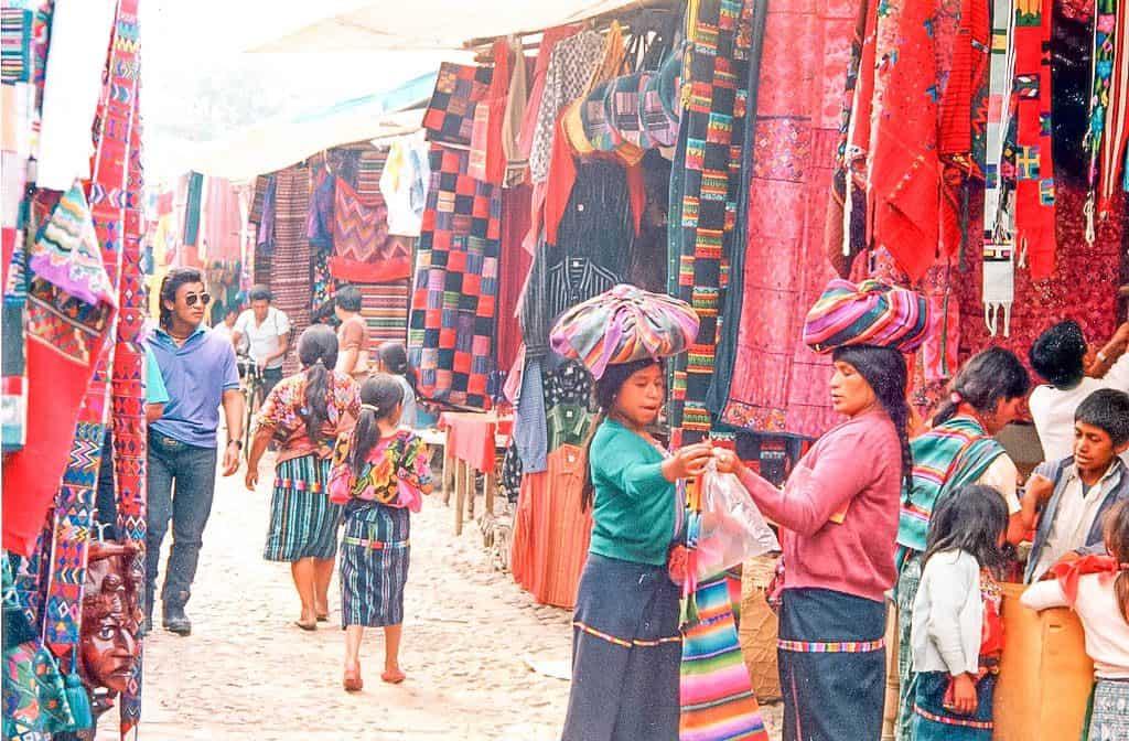 Shopping at chichicastenango market in guatemala
