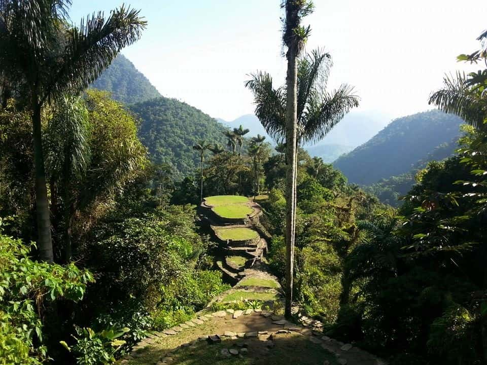 trekking to the lost city in colombia