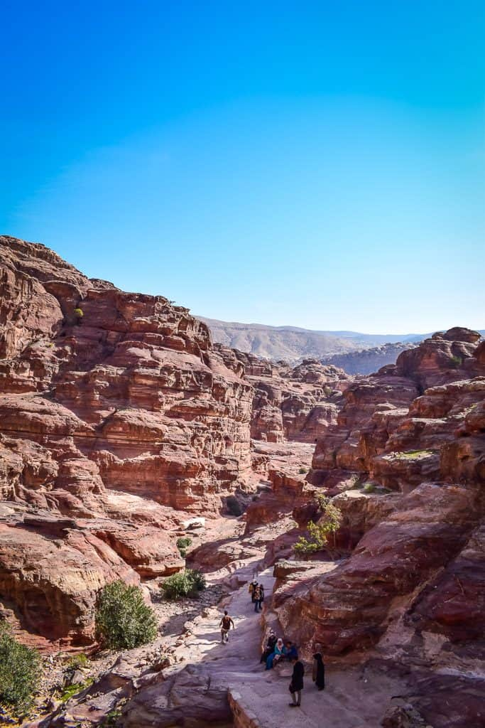 Hiking around Petra in Jordan