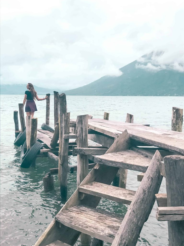 a typical dock at lake atitlan
