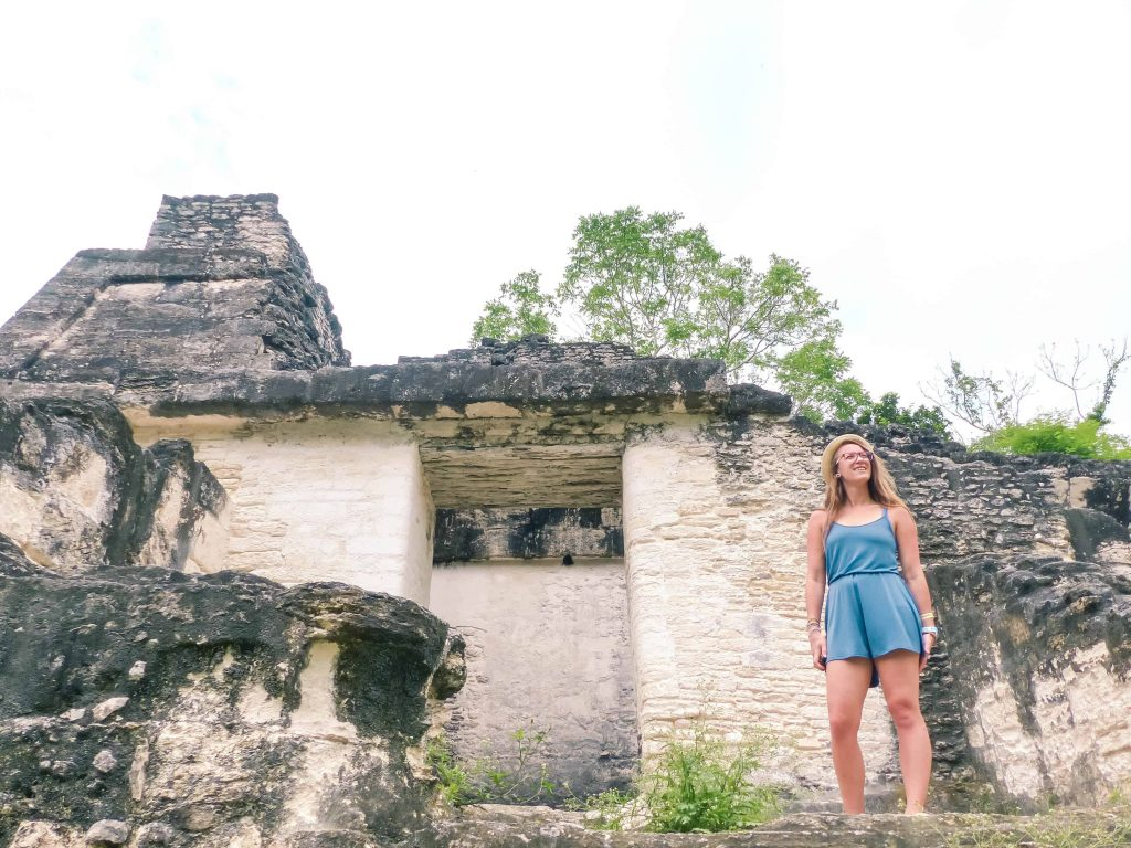 looking out over tikal in guatemala