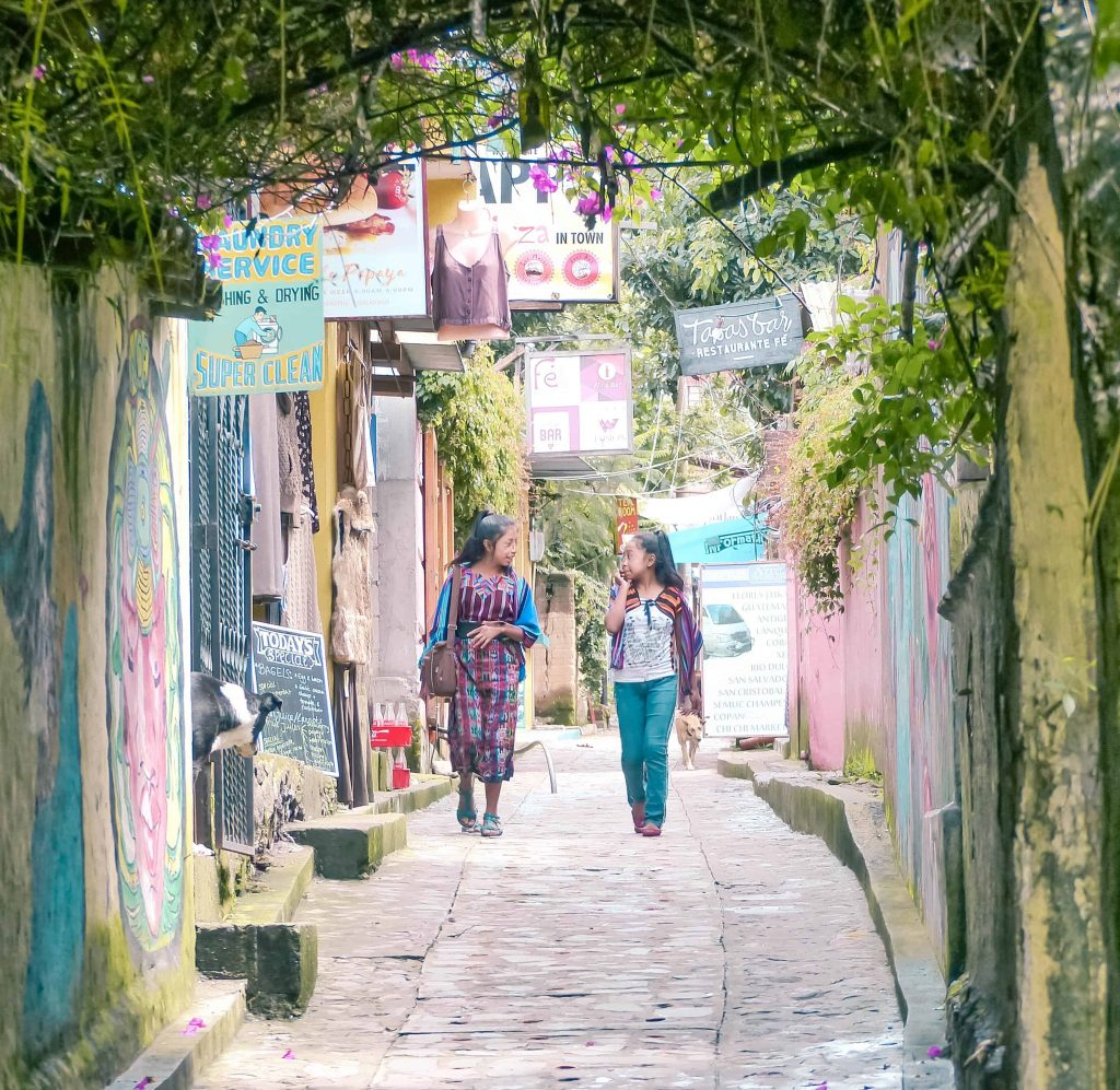 The cobblestone paths of san marcos lake atitlan