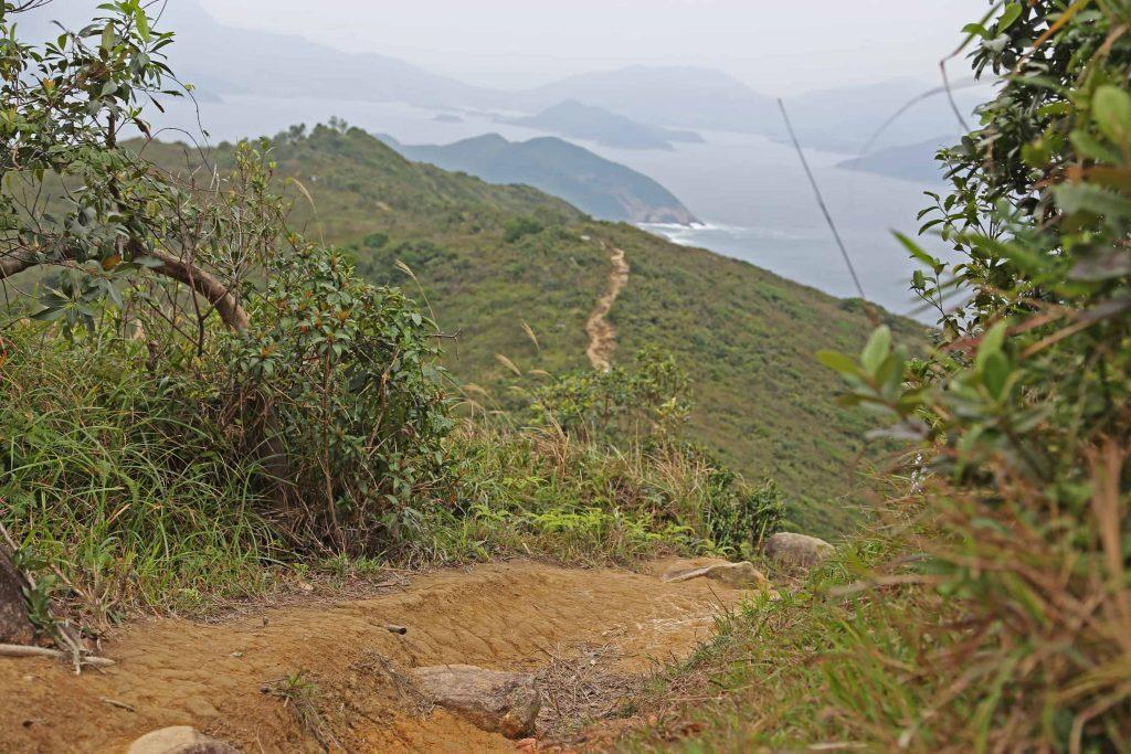 hiking at clear water bay in hong kong