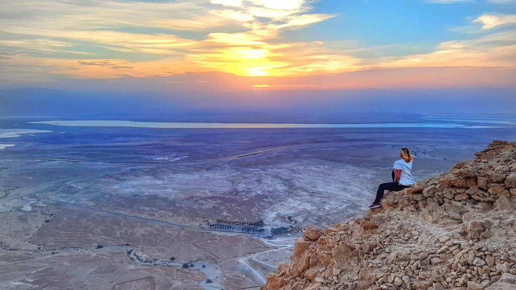 the masada sunrise trek in isreal