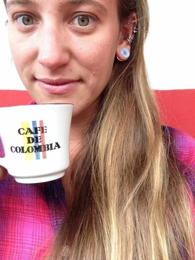 drinking coffee in salento colombia