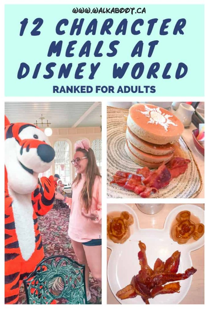 12 character dining experiences in disney world for adults