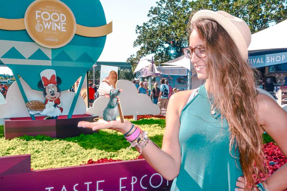 Magic Photo in the entrance to Epcot during the food and wine festival