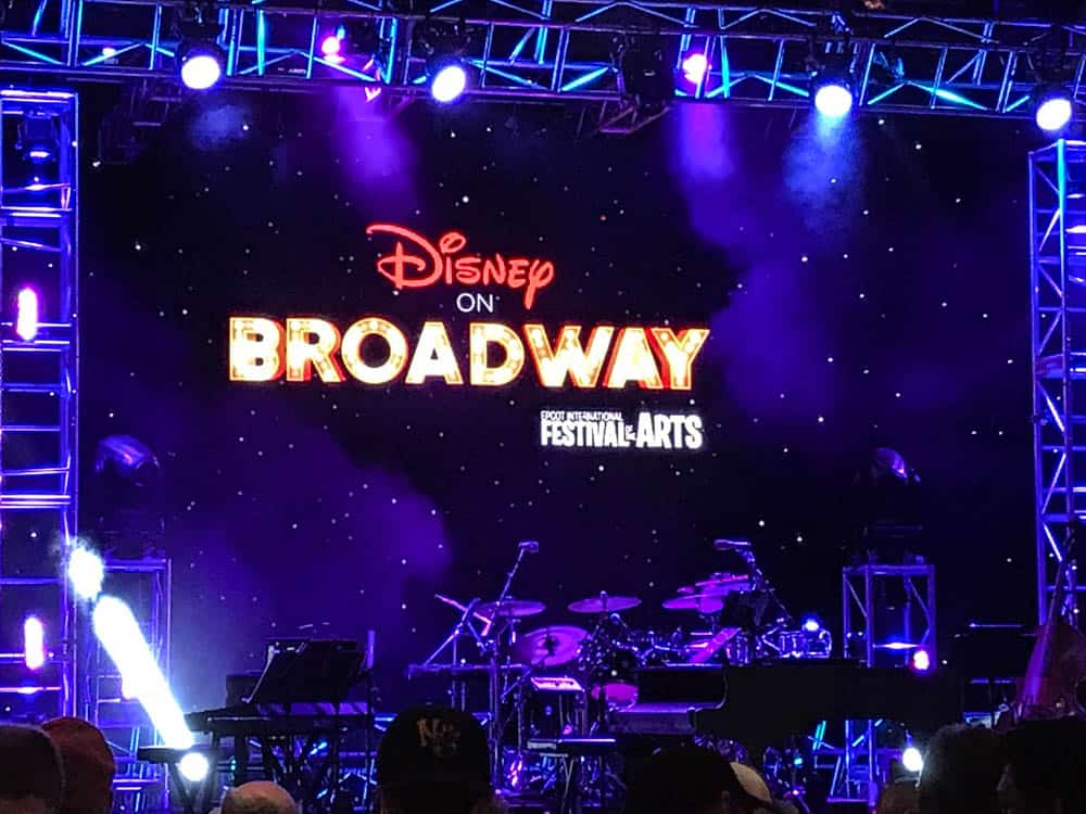 Disney on Broadway concert series at the Epcot Festival of the Arts