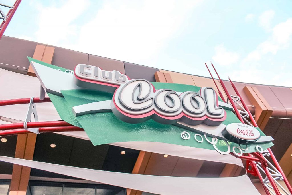 Club Cool at Epcot getting a cold drinks at club cool