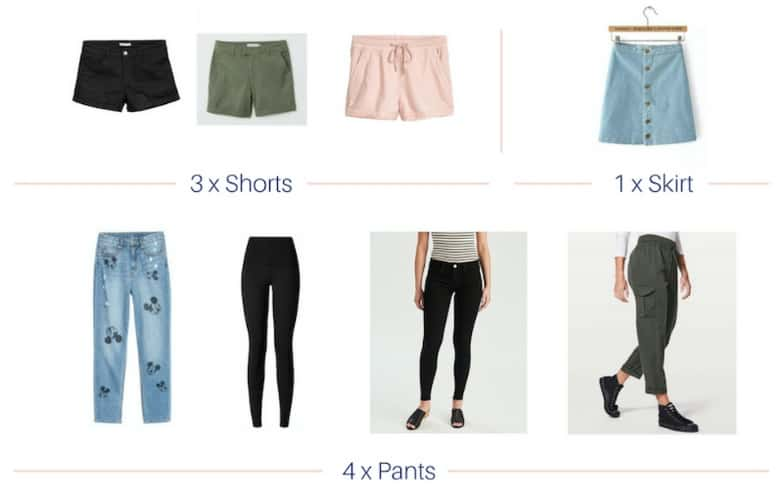 disney capsule wardrobe bottoms