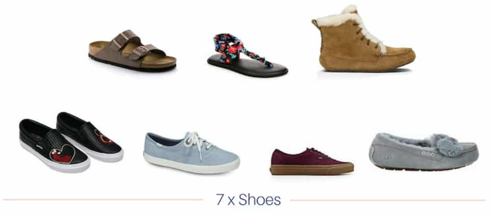 shoes in fall capsule wardrobe
