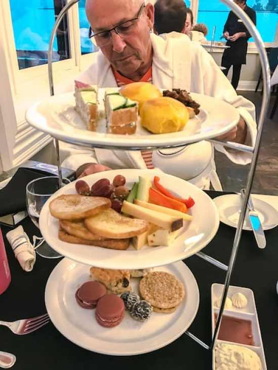 Afternoon Tea at Ste. Annes Spa a winter resorts in Ontario