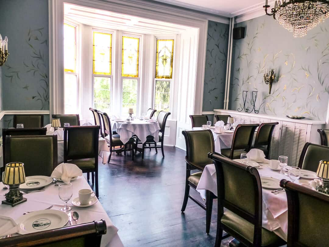 the dining room at the Elm Hurst Inn and Spa