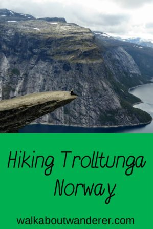 My hike of Trolltunga in Norway by Walkabout Wanderer Keywords: Walking, adventure, Trolls tongue, Norway, Travel blogger, backpacker
