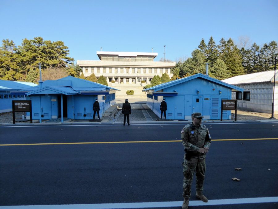 On The Front Line in DMZ, North Korea
