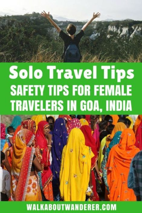 Traveling solo, especially as a woman, can raise some safety concerns. We want to take the time to talk about some solo female traveler safety tips and things you should be careful doing while you're traveling. Come see how to stay safe in Goa India and around the world. Make sure you save this to your travel board so you can find it later. #safetytips #solotravel #solofemaletraveler #femaletraveler