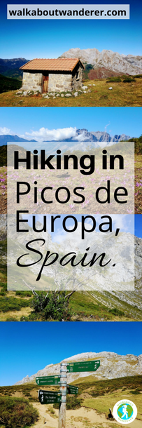 Hiking in Picos de Europa, Spain: PR-PNPE15 Prada by Walkabout Wanderer Keywords: Prada Picos de Europa hiking walking PR-PNPE15 Spain national park