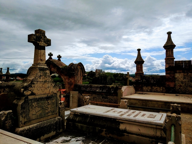 Respecting The Dead In The Cemetery Of Comillas, Spain