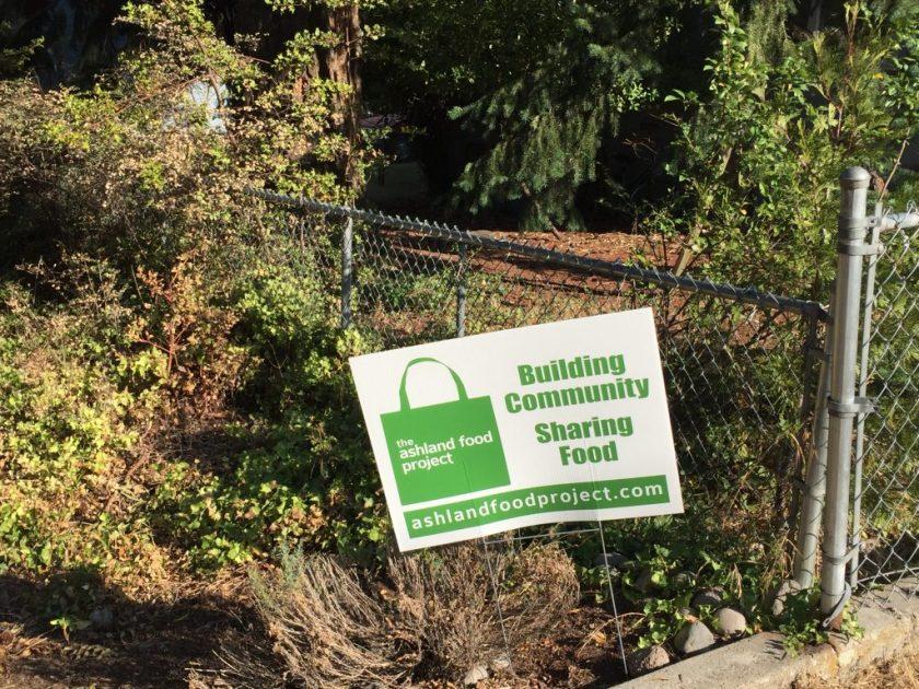 """Ashland Food Project"" sign"
