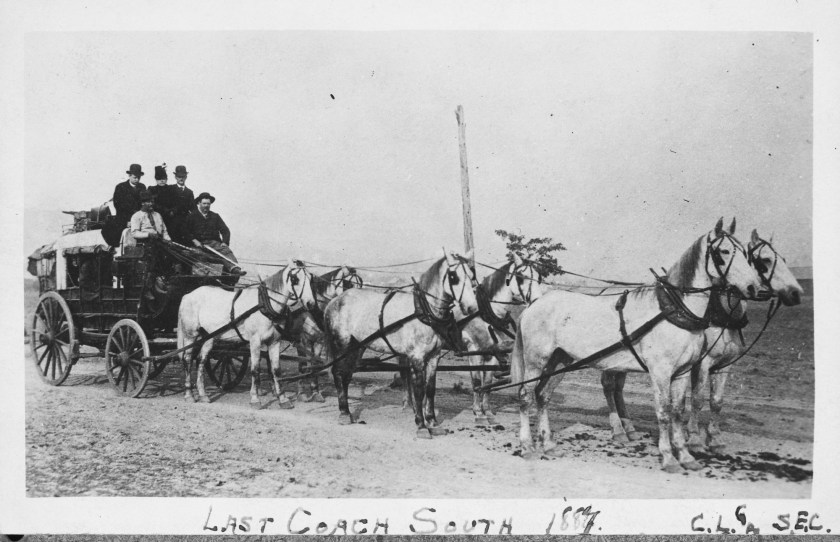 Ashland, railroad, stagecoach, 1887