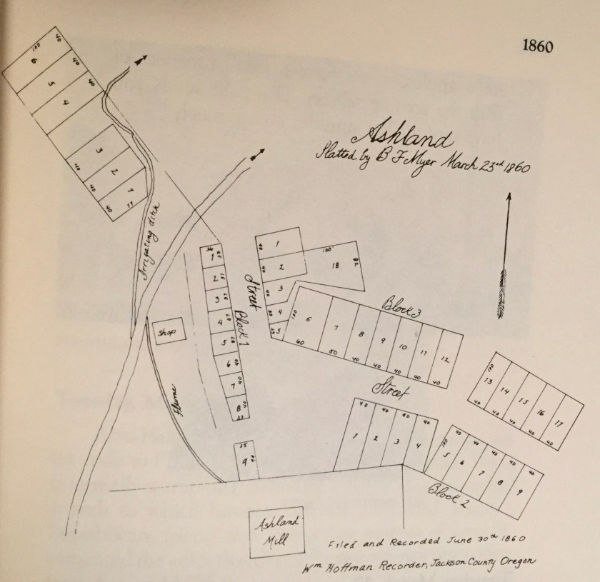 Ashland history, 1860 map of Ashland